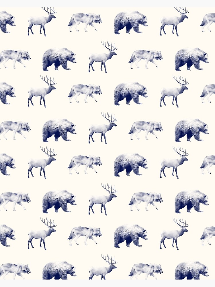Wild Pattern // Blue by AmyHamilton