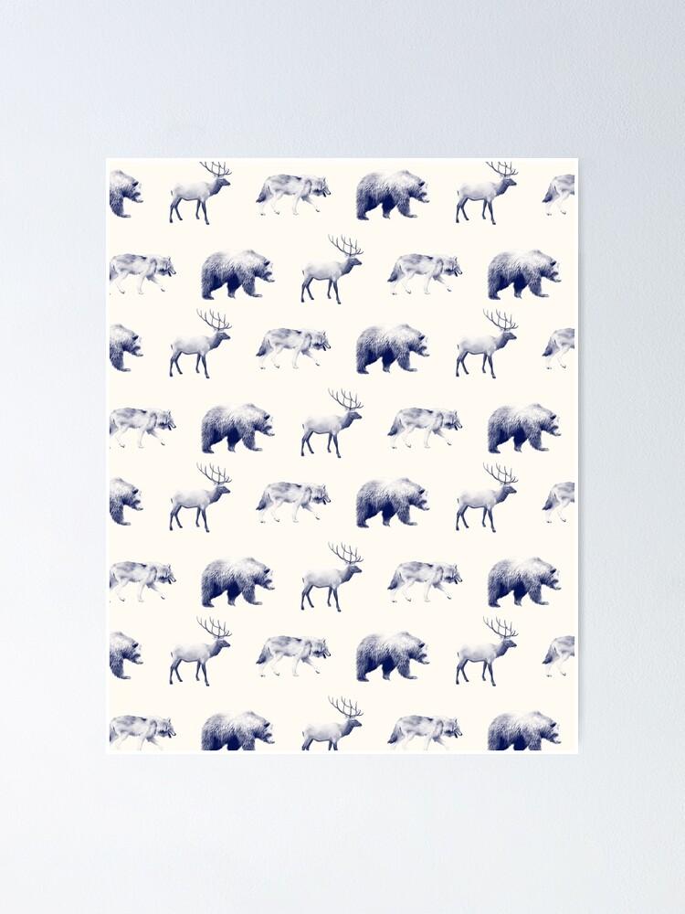 Alternate view of Wild Pattern // Blue Poster