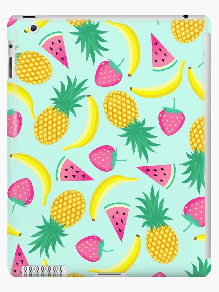 Funky Fruit Summer Design Watermelon Banana Pineapple Strawberry Ipad Case Skin By Dv Ltd Redbubble