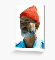 Steve Zissou - Bill Murray  Greeting Card