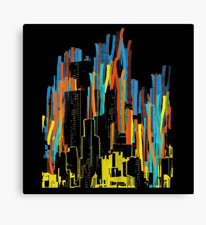 strippy city Canvas Print