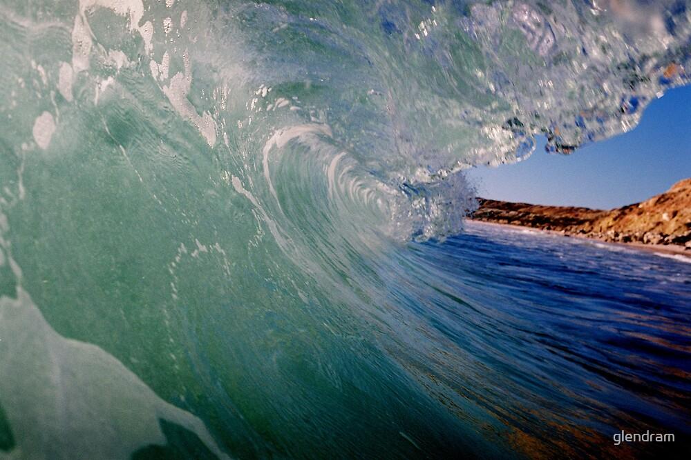 Beach, Wave, Sky. by glendram