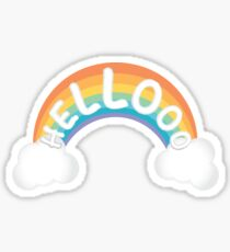 Hello Rainbow Sticker