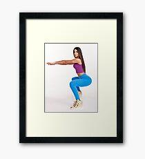 Jen Selter - Model Shoot Framed Print