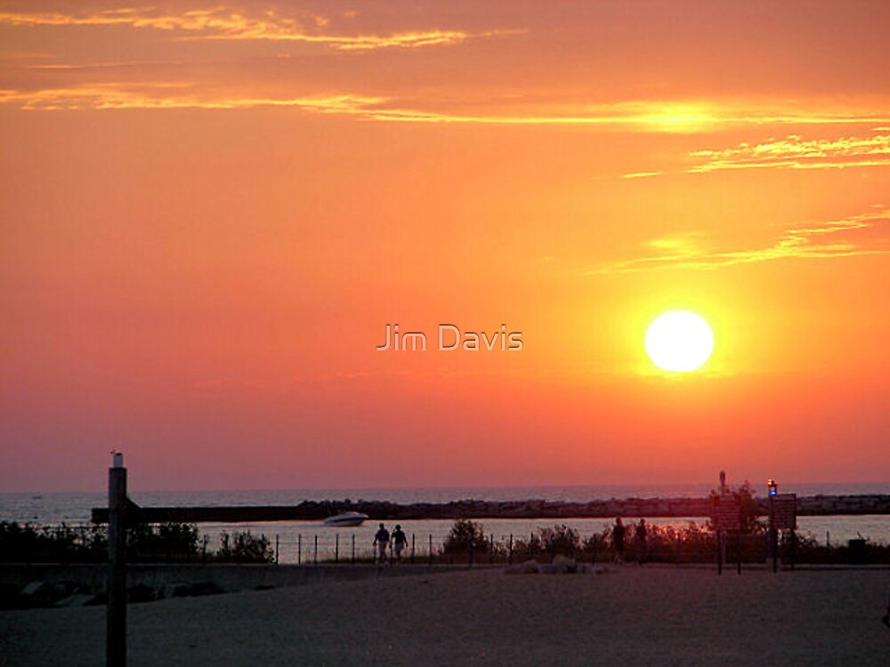 Sunset Over Lake Michigan by Jim Davis