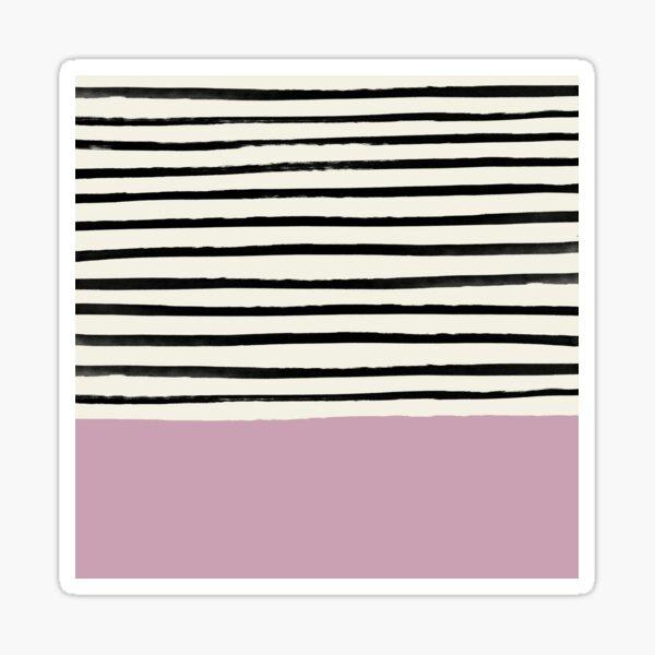 Dusty Rose & Stripes Sticker