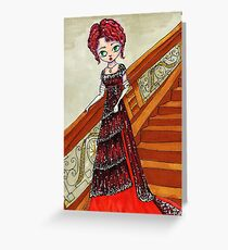 Rose on the Grand Staircase Greeting Card