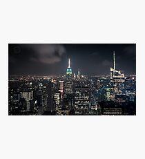 Manhattan Nightscape Photographic Print