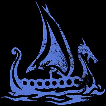 Blue Dragon Longboat by Gheri