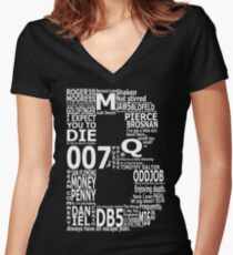 B is for Bond Women's Fitted V-Neck T-Shirt