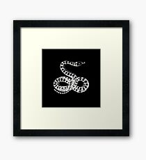 Pointillism Serpent Framed Print