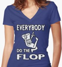 Do the FLOP! Women's Fitted V-Neck T-Shirt