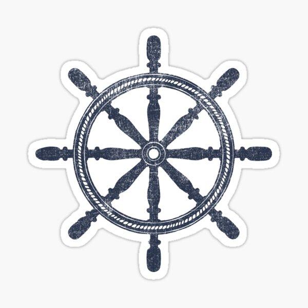 Nautical Wheel Sticker