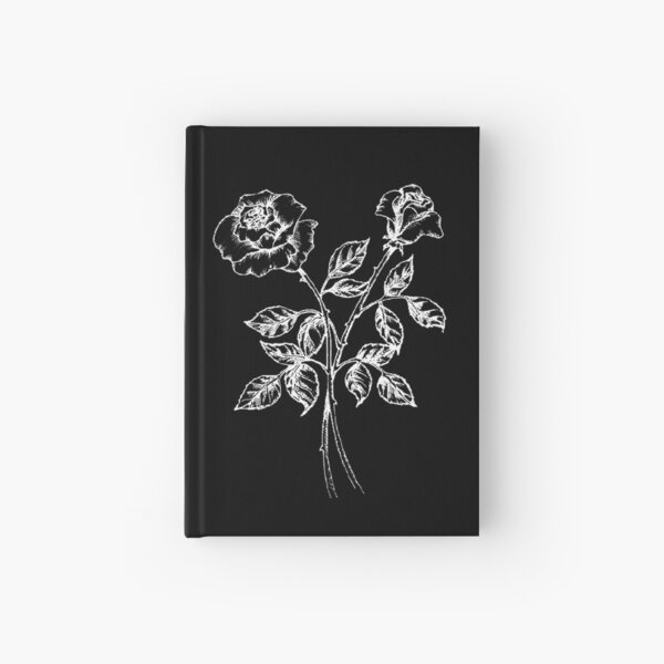 negative roses Hardcover Journal