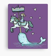 Narwhal Carousel Canvas Print