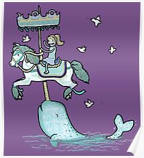 Narwhal Carousel Poster