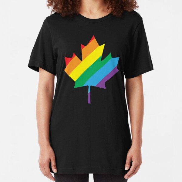 lgbt canada pride Slim Fit T-Shirt