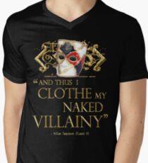 Shakespeare's Richard III Naked Villainy Quote Mens V-Neck T-Shirt