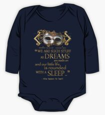 Shakespeare The Tempest Dreams Quote Kids Clothes