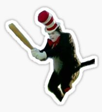 Cat in the hat meme Sticker