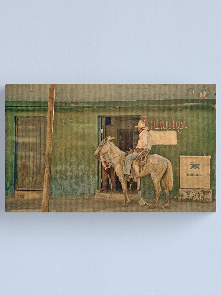Alternate view of The Cowboy - Mexico Canvas Print