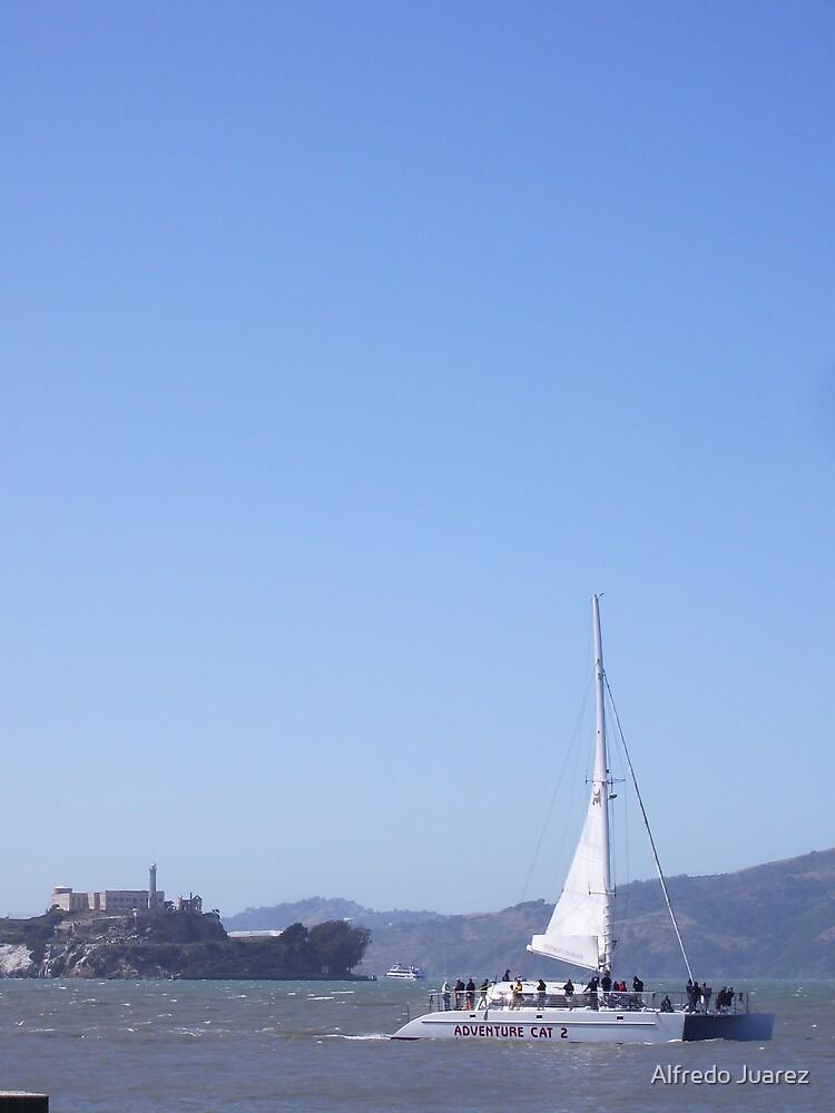 The Catamaran and The Prison of Alcatraz by Alfredo Juarez