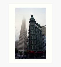 The Transamerica Pyramid  and The Sentinel Building Art Print