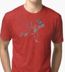 Painted Judo Throw (Judo / BJJ / Sambo) Tri-blend T-Shirt
