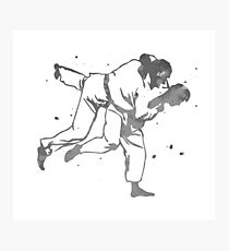 Painted Judo Throw (Judo / BJJ / Sambo) Photographic Print