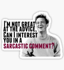 Chandler Bing: Advice Sticker
