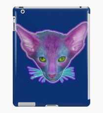 Green Eyed Cat With Pink Ears iPad Case/Skin