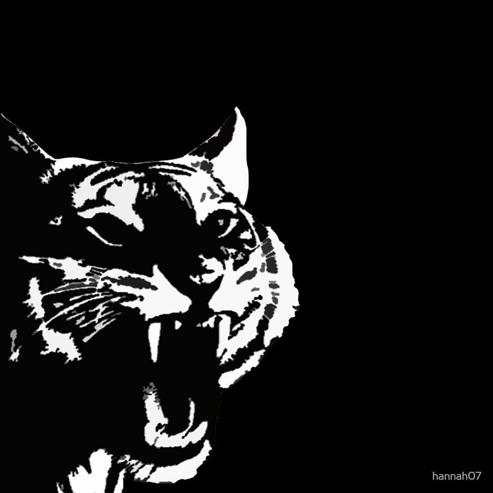 Snarling Tiger by hannah07
