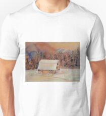 BEAUTIFUL CANADIAN WINTER LANDSCAPES BEAUTIFUL SKIES SNOWSCENE PAINTING T-Shirt