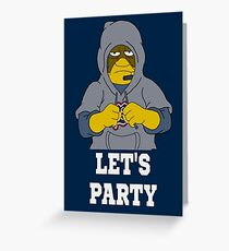 Bill Lets Party Greeting Card