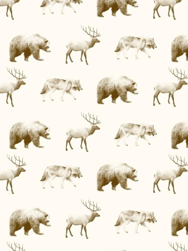 Wild Pattern // Brown by AmyHamilton