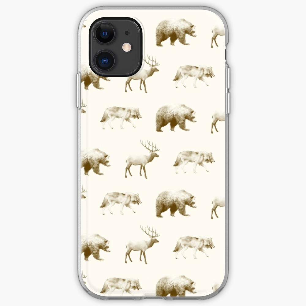 Wild Pattern // Brown iPhone Case & Cover