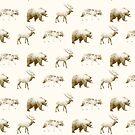 Wild Pattern // Brown by Amy Hamilton