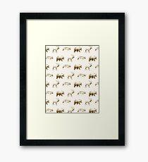 Wild Pattern // Brown Framed Print