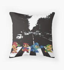 Nintendo Sprites on Abbey Road Throw Pillow