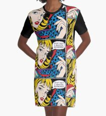 Pop Art - 'What the !!! I wanted Diamonds' Graphic T-Shirt Dress