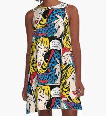 Pop Art - 'Was zum !!! Ich wollte Diamanten ' A-Linien Kleid