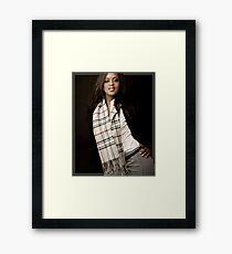 Burberry Scarf Framed Print