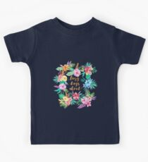 Pink Floral Watercolor Pattern - Lazy Days Ahead Kids Clothes