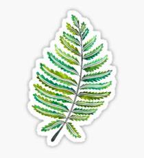 Fern Leaf – Green Palette Sticker