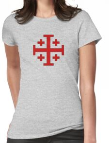 Order of the Holy Sepulchre, Five-fold Cross  Womens Fitted T-Shirt