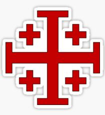 Order of the Holy Sepulchre, Five-fold Cross  Sticker