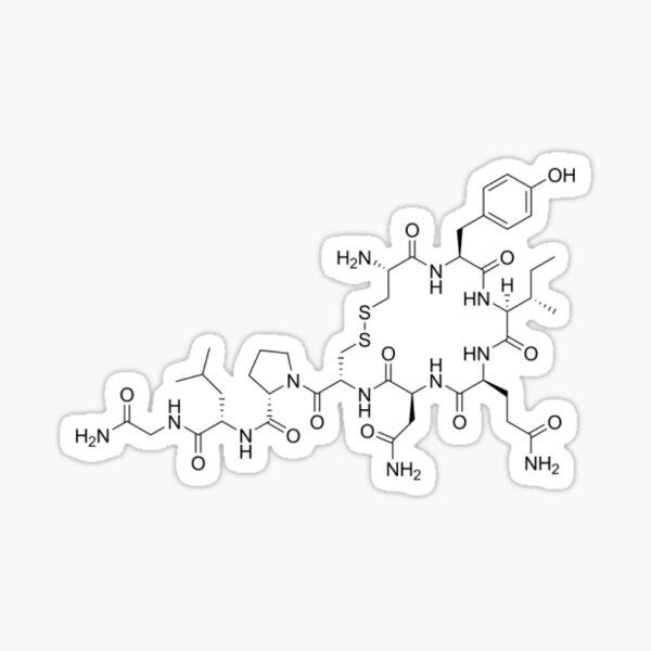 Oxytocin Molecular Structure Sticker