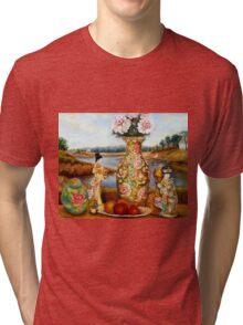 BEAUTIFUL STILL LIFE PAINTINGS AND PRINTS BY CANADIAN ARTIST CAROLE SPANDAU Tri-blend T-Shirt