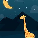 The Giraffe and the Moon by cartoonbeing