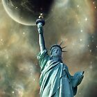 Statue of Liberty - Celestial  by Barbny